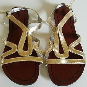 Mossimo Womens Sandals Gold